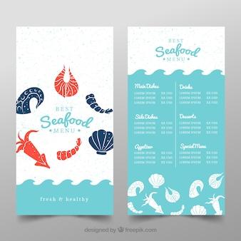 Meeresfrüchte-restaurant-menü