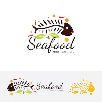 Meeresfrüchte-restaurant-vektor-logo-vorlage