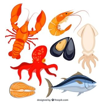 Meeresfrüchte sammlung