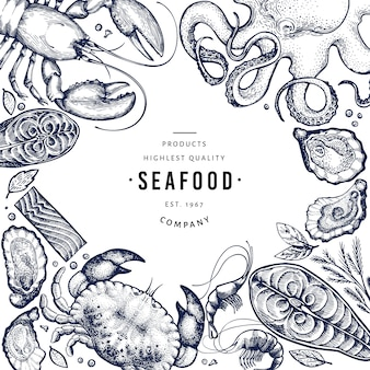 Meeresfrüchte und fisch-vorlage.
