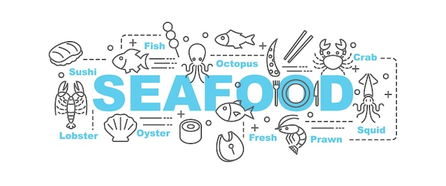 Meeresfrüchte-vektor-banner