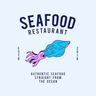 Meeresfrüchterestauranttext-designvektor