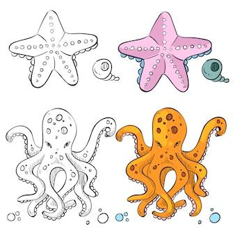Meereslebewesen färbung