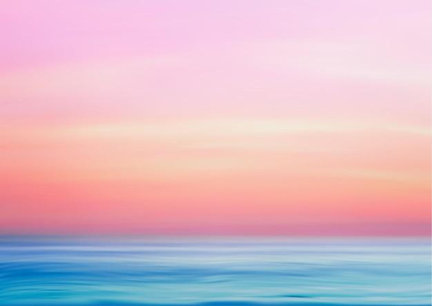 Meerespanoramalandschaft