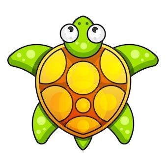 Meeresschildkröte-symbol. vektor-illustration auf weißem hintergrund