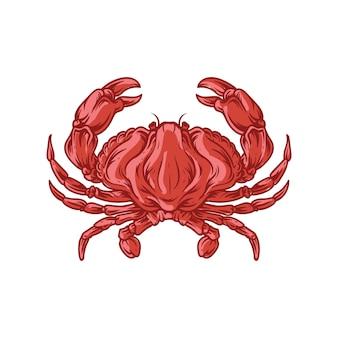 Meerestier der roten krabben
