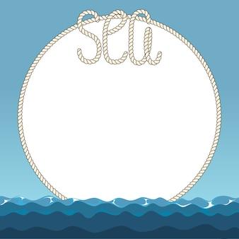 Meereswellen und meeresseilrahmen