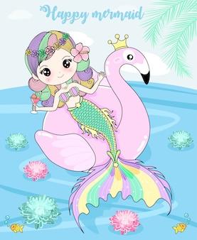 Meerjungfrau genießt die feiertage