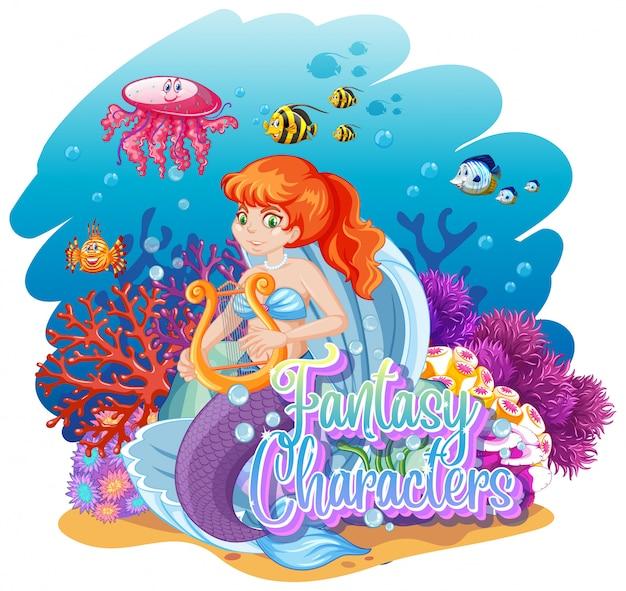 Meerjungfrau in der unterwasserwelt