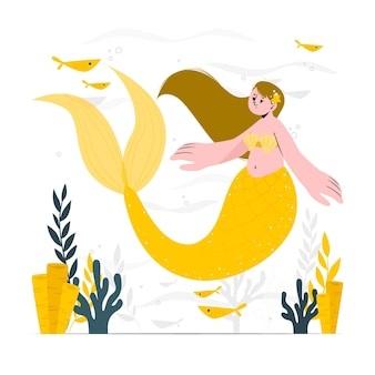 Meerjungfrau-konzeptillustration