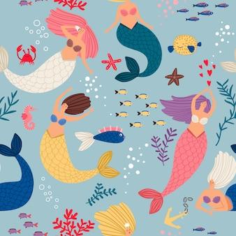 Meerjungfrau mädchen muster