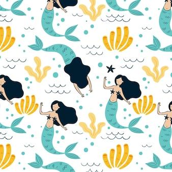 Meerjungfrau muster design