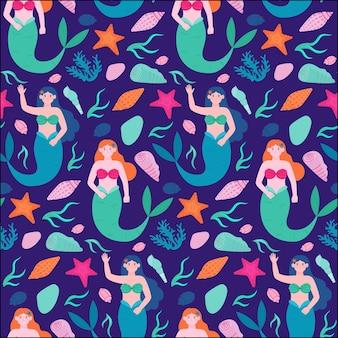 Meerjungfrau muster sammlung