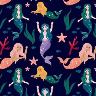 Meerjungfrau muster