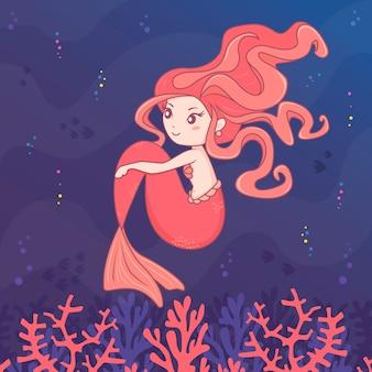 Meerjungfrau rose charakter
