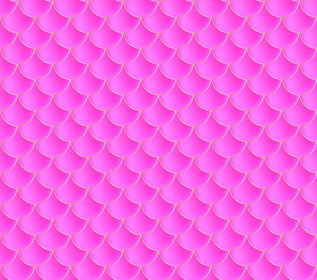 Meerjungfrau schuppen. fisch squama. rosa nahtloses muster. farbabbildung. aquarell hintergrund. skalendruck.