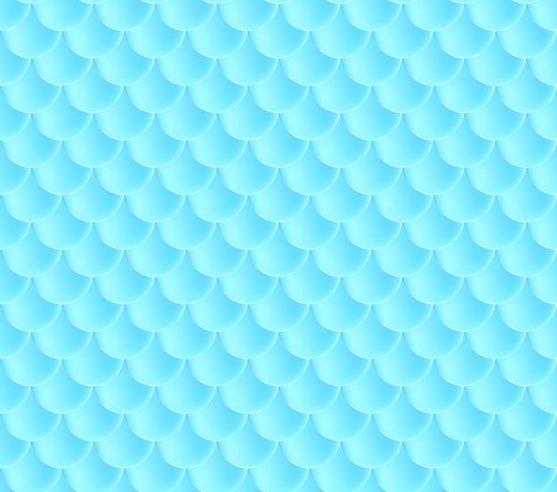 Meerjungfrau skalen. fisch squama. blaues nahtloses muster. farbe aquarell hintergrund. skalendruck.