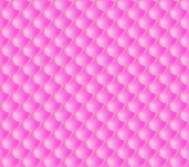 Meerjungfrau skalen. fisch squama. rosa nahtloses muster