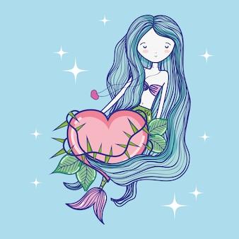 Meerjungfrau süße zeichnung