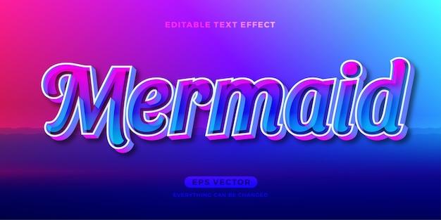 Meerjungfrau-texteffekt