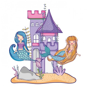 Meerjungfrauen im schloss