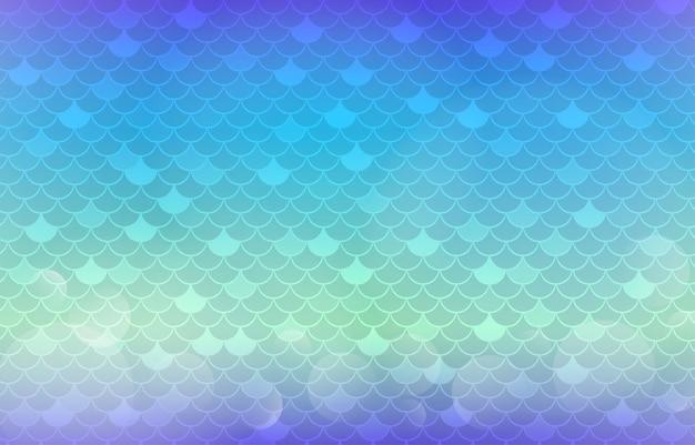 Meerjungfrauenschwanz hintergrund mit farbverlauf