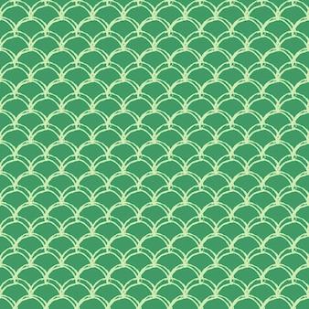 Meerjungfrauenschwanz nahtloses muster. fischhautbeschaffenheit. bebaubarer hintergrund für mädchenstoff, textildesign, packpapier, badebekleidung oder tapete. grüner meerjungfrauenschwanzhintergrund mit fischschuppe unter wasser.