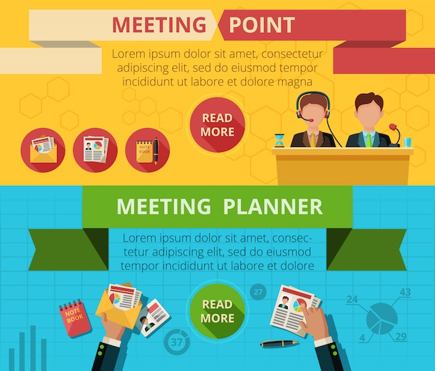 Meeting-banner-set