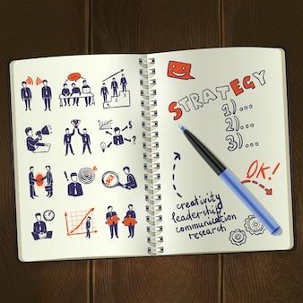 Meeting-skizze-notizblock