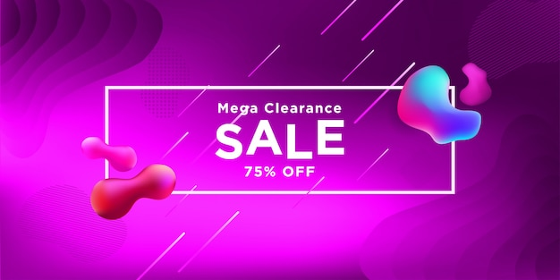 Mega clearance sale banner flüssigkeit farbe