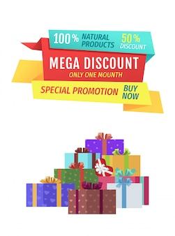 Mega discount sonderangebot banner