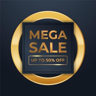 Mega flash verkaufsbanner mit schwarzem gold für den verkauf
