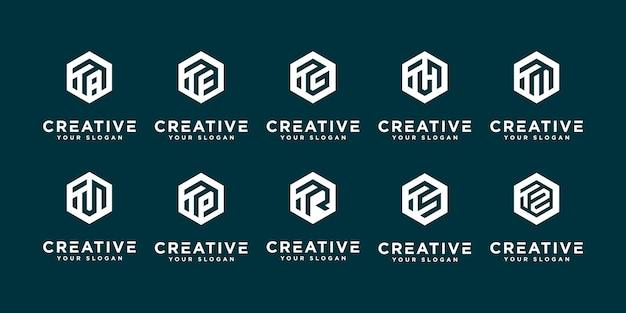 Mega-logo-sammlung u und etc. monogramm-logo-design-vorlage.