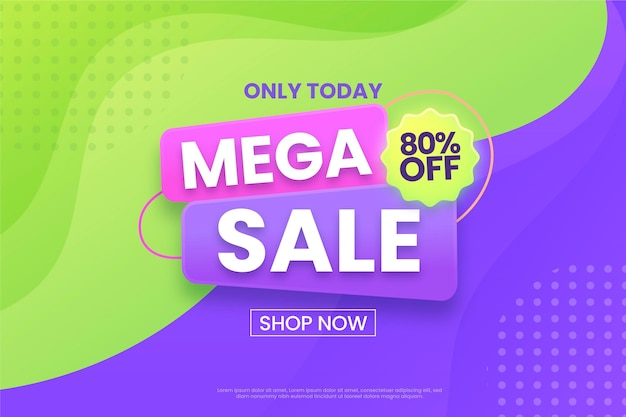 Mega sale background shop jetzt