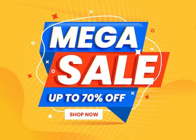 Mega sale banner vorlage promotion