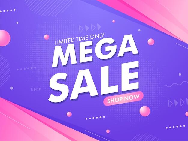 Mega sale concept square vorlage