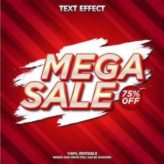 Mega sale editierbarer texteffekt