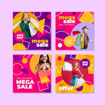 mega sale instagram post sammlung