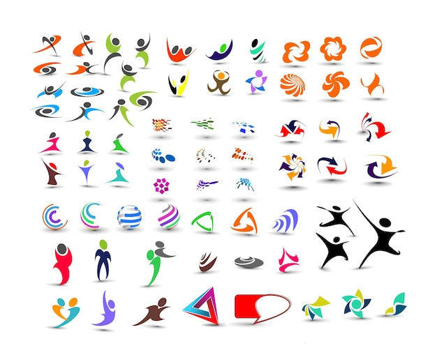 Mega-sammlung von vektor-logo-design