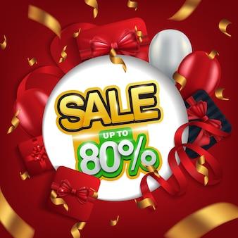 Mega-verkauf, verkauf bis zu 80%, verkaufshintergrund für promotion.
