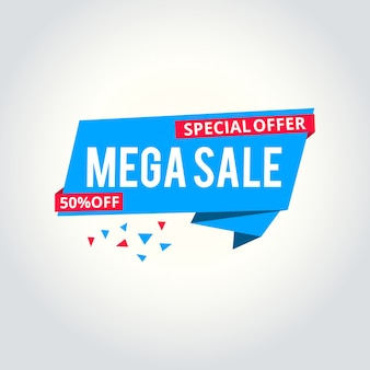 Mega verkauf vorlage banner, vektor-illustration