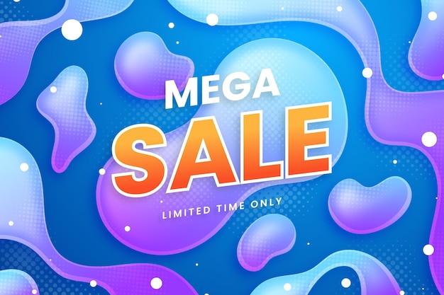 Mega-verkaufshintergrund mit farbverlauf