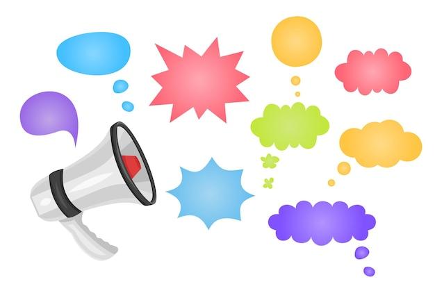 Megaphon mit sonderangebot-sprechblase lautsprecher sonderangebot-banner für unternehmen