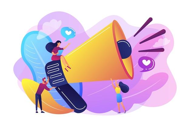 Megaphon-werbung und marketing, werbestrategie, konzept für werbeartikel