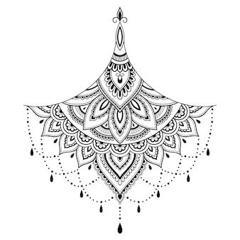 Mehndi dekoration im ethnisch orientalischen stil
