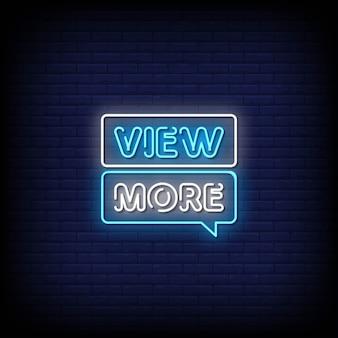 Mehr anzeigen neon style text mit blasensprache