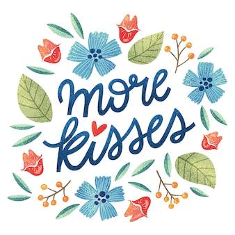 Mehr küsse spaß schriftzug kranz