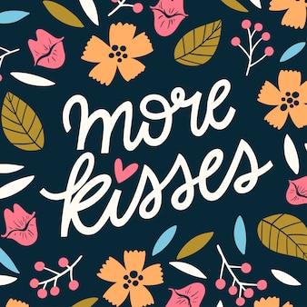 Mehr küsse spaß schriftzug