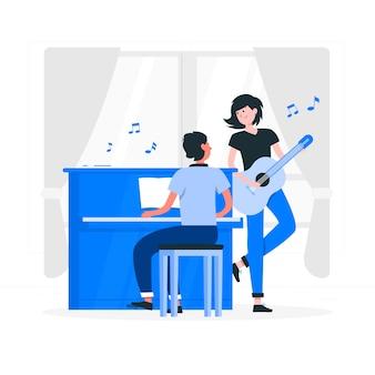 Mehr musikkonzeptillustration