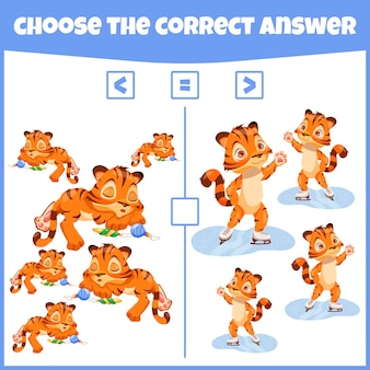 Mehr weniger oder gleich vergleichen sie die zahl zählspiel lernfähiges mathematisches spiel